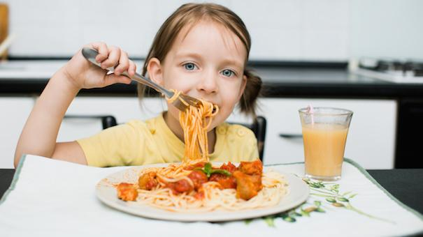 Image result for image of child eating dinner""