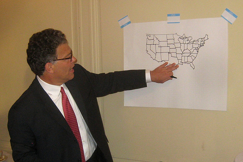 Al Franken Is A Geography God Parenting Squad - Al franken draws us map